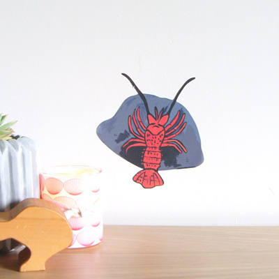 Crayfish wall decal