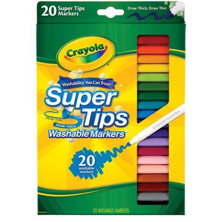 Crayola 20 pack supertips felt pens