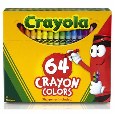 Crayola 64 crayons - sharpener included