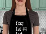 Crazy Cat Lady Funny Apron