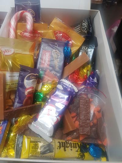 Crazy Christmas candy box!