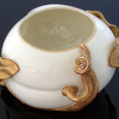 Cream and gold Royal Worcester vase dated 1881