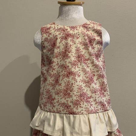 Cream and Pink Floral dress - Size 2