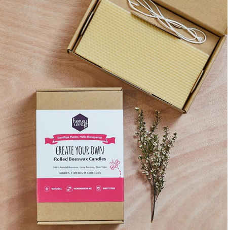 Create Your Own Beeswax Rolled Candle Kit