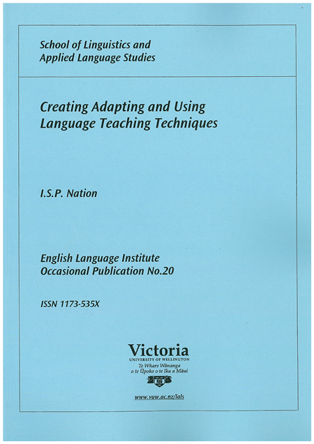Creating Adapting and Using Language Teaching Techniques