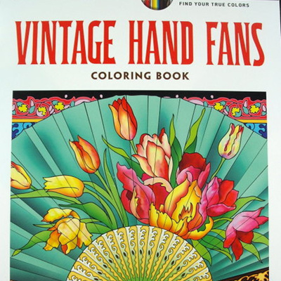 Creative Haven Adult Colouring Book - Vintage Hand Fans