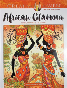 Creative Haven Colouring Book - African Glamour