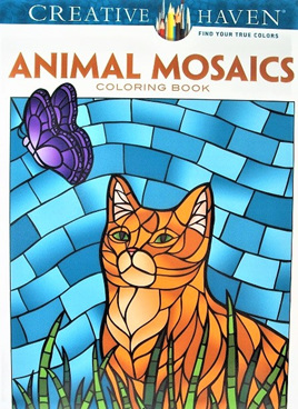 Creative Haven Colouring Book - Animal Mosaics