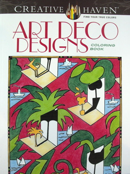 Creative Haven Colouring Book - Art Deco Designs