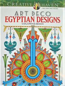 Creative Haven Colouring Book - Art Deco Egyptian Designs