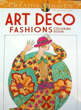 Creative Haven Colouring Book - Art Deco Fashions