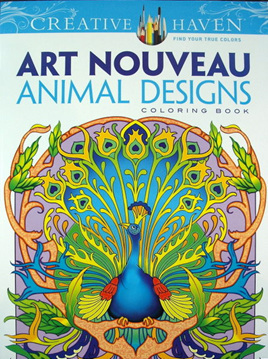 Creative Haven Colouring Book - Art Nouveau Animal Designs
