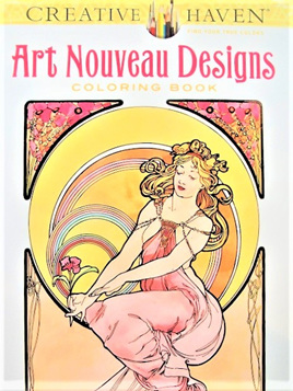Creative Haven Colouring Book - Art Nouveau Design
