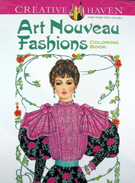 Creative Haven Colouring Book - Art Nouveau Fashions