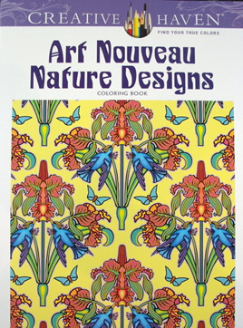 Creative Haven Colouring Book - Art Nouveau Nature Designs