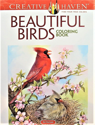 Creative Haven Colouring Book - Beautiful Birds