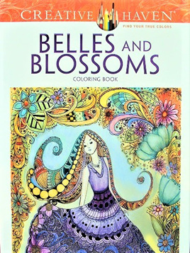 Creative Haven Colouring Book - Belles and Blossoms