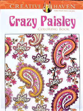 Creative Haven Colouring Book - Crazy Paisley