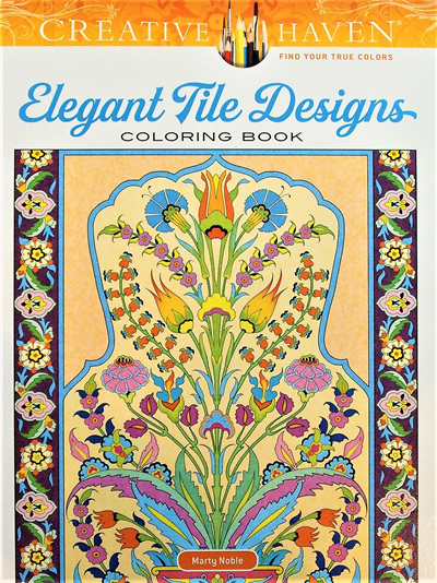 Creative Haven Colouring Book - Elegant Tile Designs