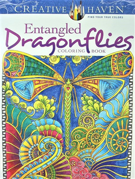 Creative Haven Colouring Book - Entangled Dragonflies