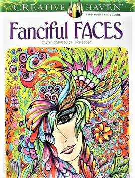 Creative Haven Colouring Book - Fanciful Faces