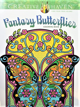 Creative Haven Colouring Book - Fantasy Butterflies