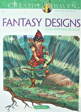 Creative Haven Colouring Book - Fantasy Designs