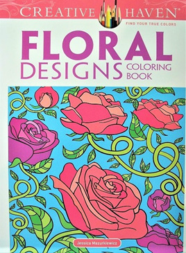 Creative Haven Colouring Book - Floral Designs