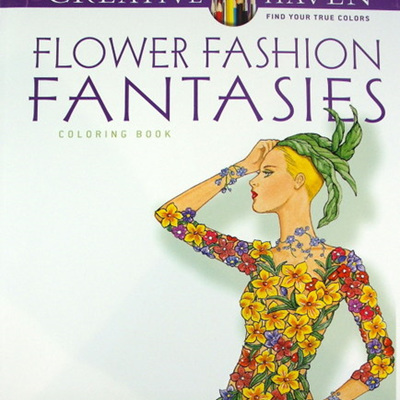 Creative Haven Colouring Book - Flower Fashion Fantasies