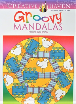 Creative Haven Colouring Book - Groovy Mandalas