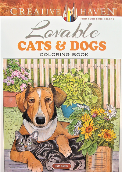 Creative Haven Colouring Book - Lovable Cats and Dogs