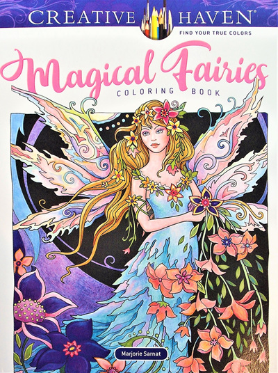 Creative Haven Colouring Book - Magical Fairies