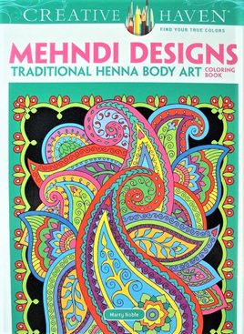 Creative Haven Colouring Book - Mendhi Designs: Traditional Henna Body Art