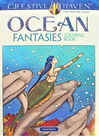 Creative Haven Colouring Book - Ocean Fantasies