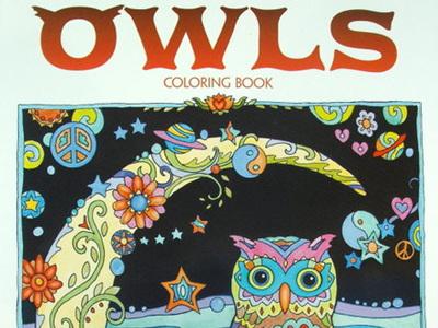 Creative Haven Colouring Book - Owls