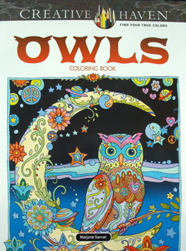 Creative Haven Colouring Book - Owls