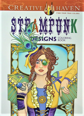 Creative Haven Colouring Book - Steampunk Designs