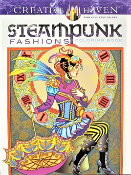 Creative Haven Colouring Book - Steampunk Fashions