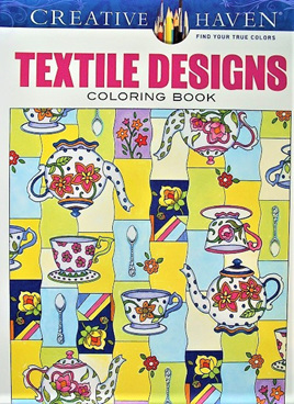 Creative Haven Colouring Book - Textile Designs