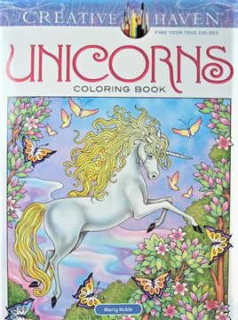 Creative Haven Colouring Book - Unicorns