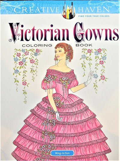 Creative Haven Colouring Book - Victorian Gowns