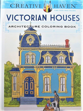 Creative Haven Colouring Book - Victorian Houses
