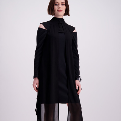 CREED BOLD SHOULDER DRESS