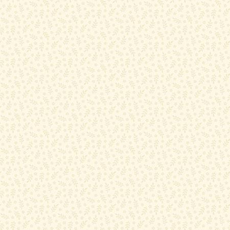 Creme Fraiche Allover Sprigs and Flowers Cream A-9738-N