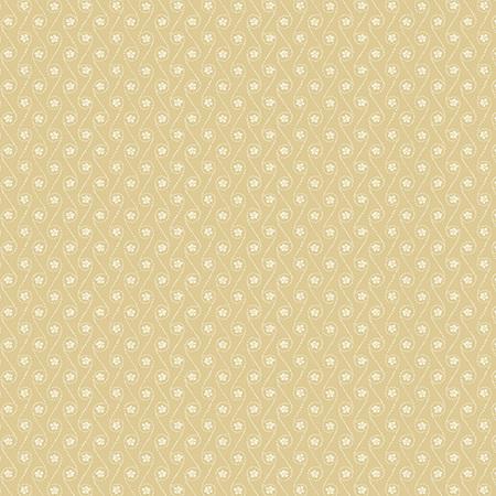 Creme Fraiche Dotted Curves and Flowers Cream A-9739-N