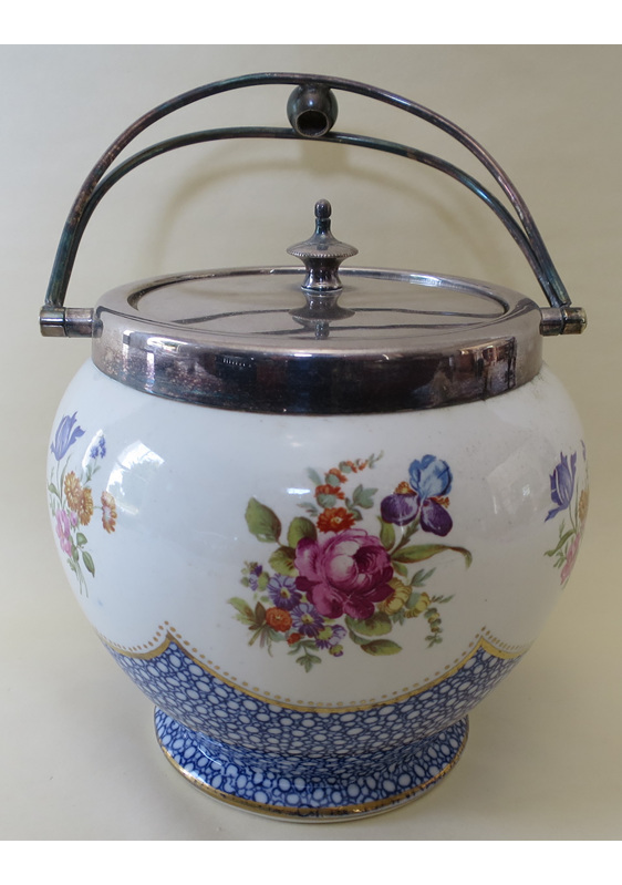 Crescent China biscuit barrel