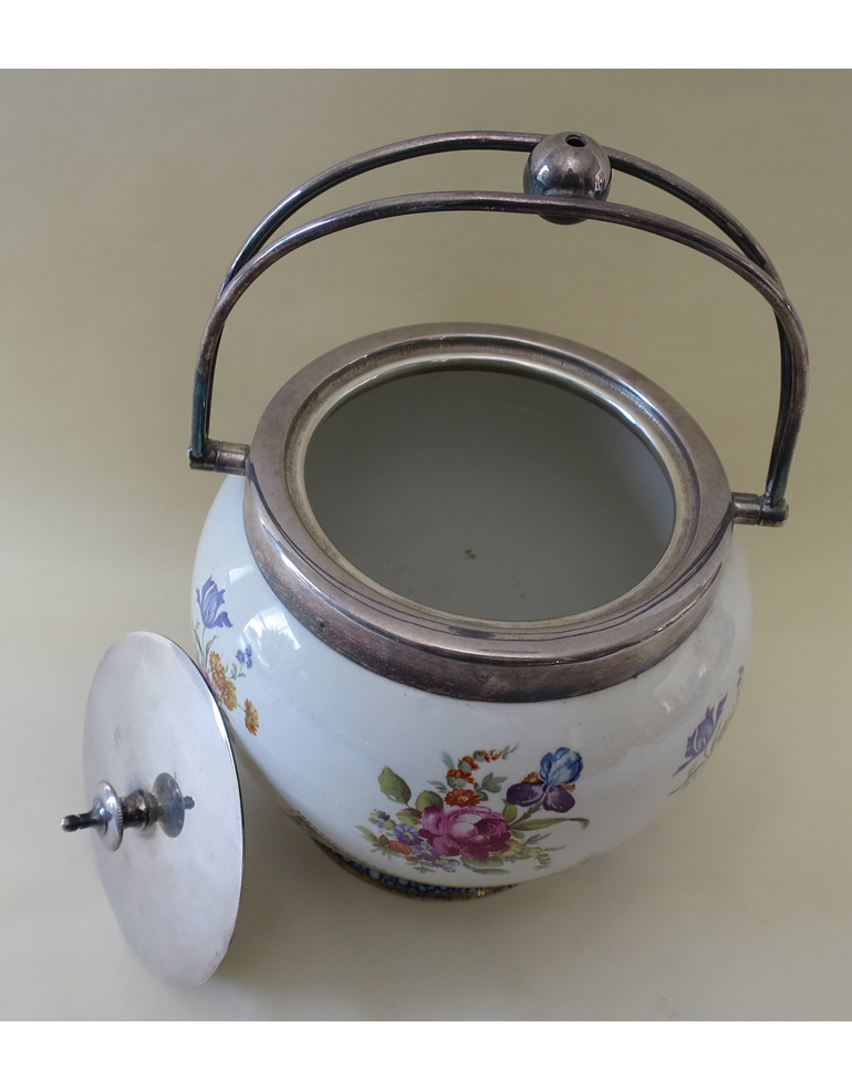 Crescent China biscuit barrel