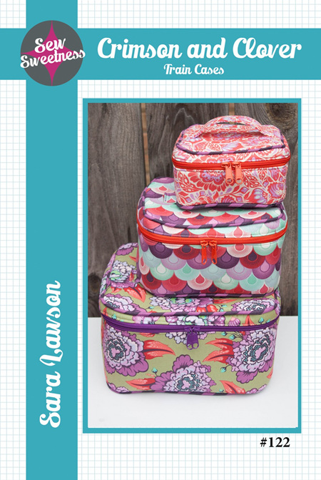 Crimson and Clover Train Cases Pattern