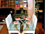 Criss Cross Dining Table Made to order New Zealand bloomdesigns