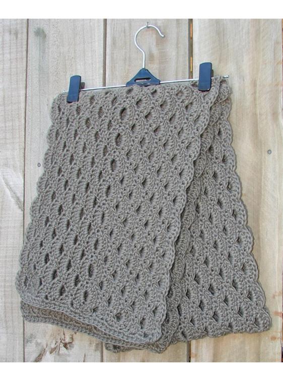 Crochet Shell Wrap